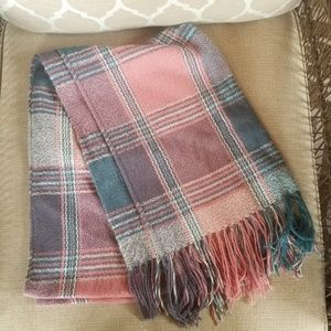 Charlotte Russe pink and green scarf